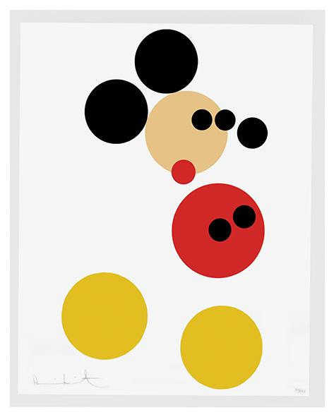 Screenprint von Mickey Mouse