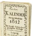 Miniaturbuch - Kalender